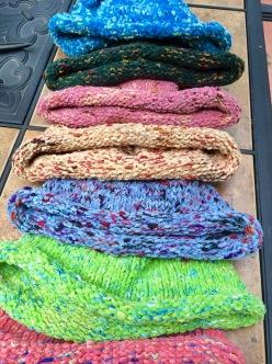 I knit chemo caps...