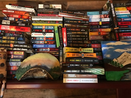 One of my book shelves...